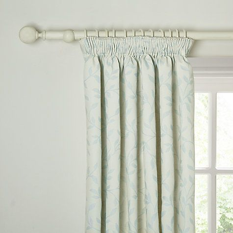 Buy John Lewis Cotton Linen Leaf Trail Lined Pencil Pleat Curtains Online at johnlewis.com