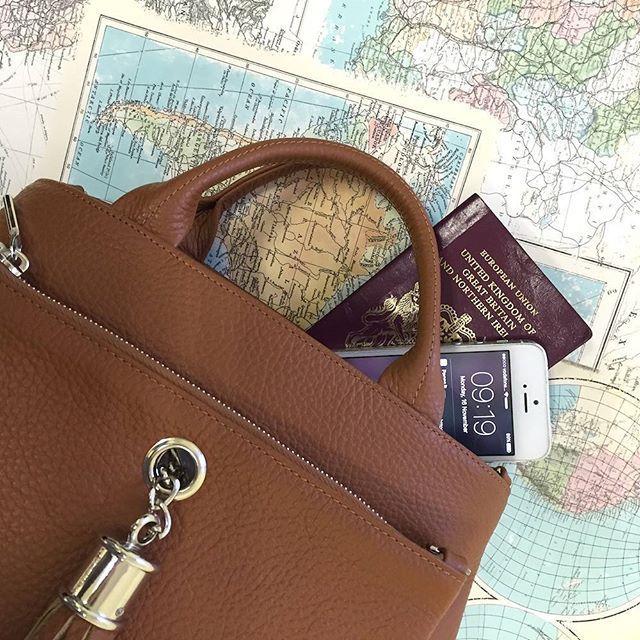 The Dahlia Tote - the perfect travel companion!