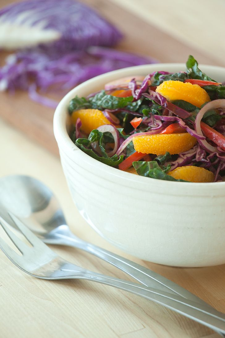 Healthy Rainbow Kale Slaw