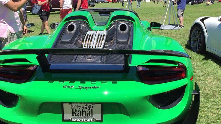 Gorgeous green Porsche 918 spider hybrid. 900 hp for $900,000