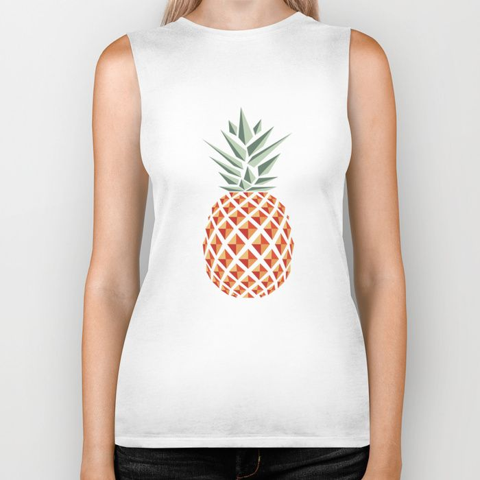 """""""Pineapple"""" Biker Tank by Basilique on Society6."""