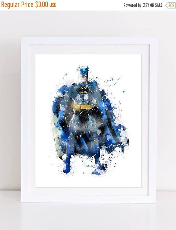 60%OFF batman watercolor watercolor batman batman nursery