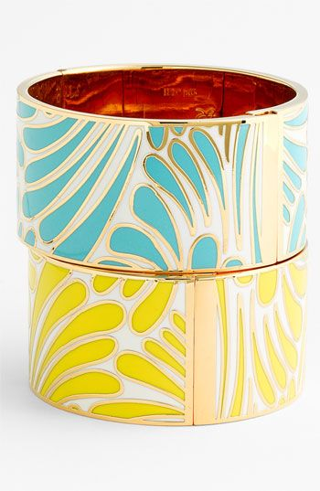 Florence Broadhurst - Idiom design on a wide bangle by Kate Spade, New York