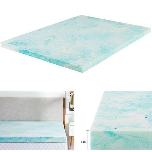 """Memory Foam Mattress Topper 3"""" Inch Swirl Queen Size Plush Gel Mattress Pad New #MemoryFoamMattressTopper"""