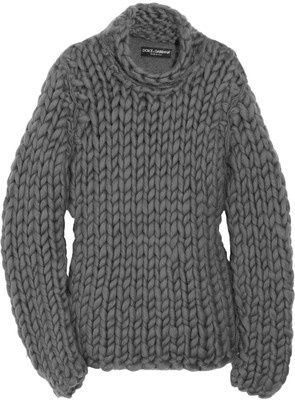 Dolce & Gabbana Chunky-knit cotton-blend sweater. Love the chunky texture
