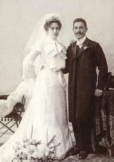 +~+~ Antique Photograph ~+~+ Wedding Couple 1903