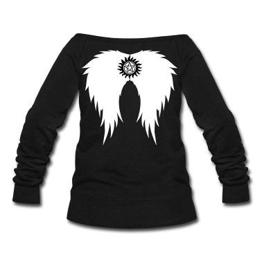 supernatural clothes style   Supernatural wings (vector) Hoodies & Sweatshirts Sweatshirt ...