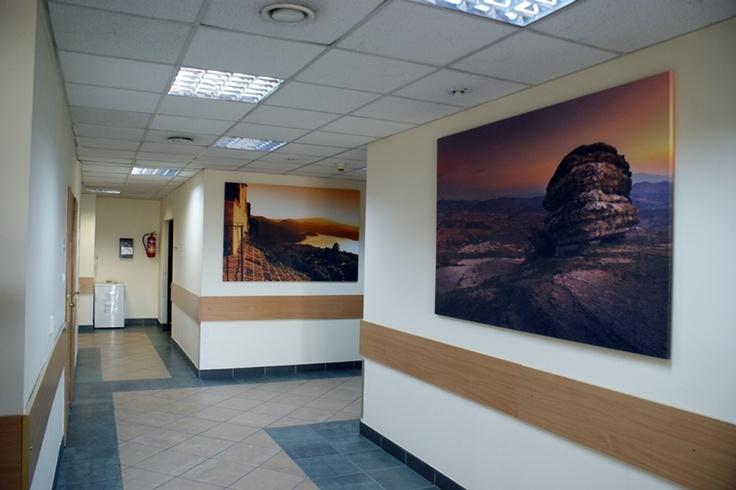 Oddział Gastroenterologiczny - Szpital Zakonu Bonifratrów w Katowicach - korytarz główny oddziału -   całkowite zakończenie prac remontowych - czerwiec 2012 roku