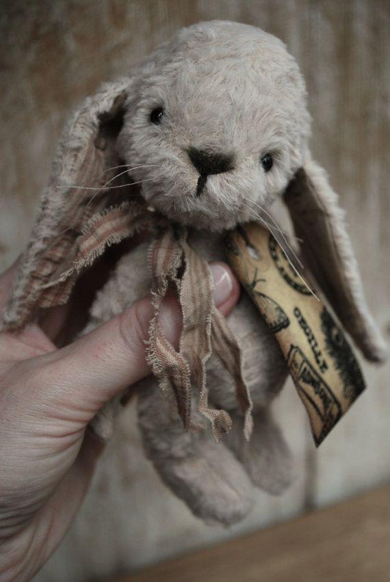 Artist Bear handmade Bunny Cecille by bearwithmee on Etsy, £79.00