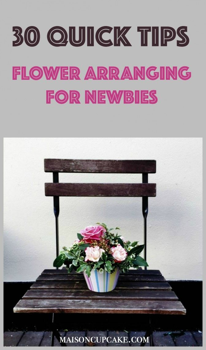 Floristry for beginners is about my level and these easy flower arranging tips are sure to inspire you to make your own flower arrangements too!