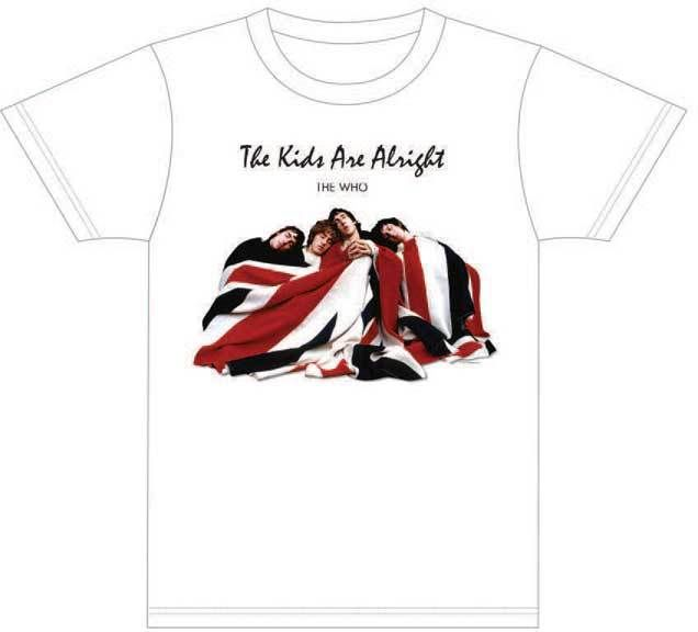 This The Who tshirt features the artwork used to promote the rockumentary film and soundtrack of The Kids are Alright. Released in 1979, The Kids are Alright documented The Who via a collage of concert footage, tv appearances & interviews of the group.  The Who's drummer, Keith Moon, is shown throughout The Kids are Alright and the film is viewed as a celebration of his life with The Who. Our men's The Kids are Alright tee is made from 100% white slim fitting cotton. #RockerRags #TheWho