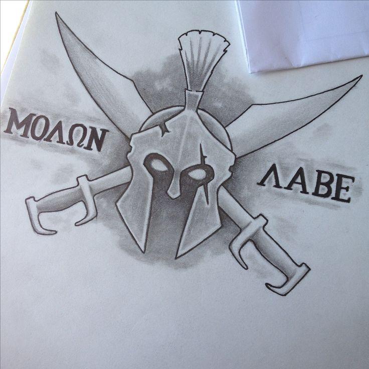 Molon labe tattoo design