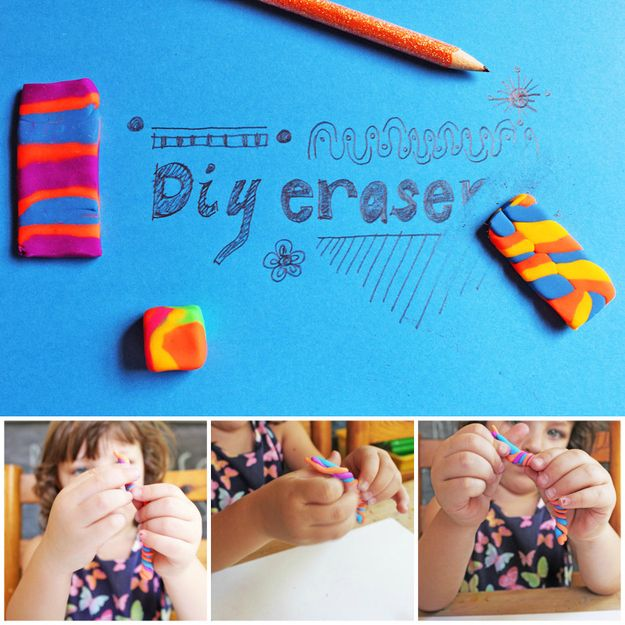 Give kids the power to make their own pencil erasers. | The 52 Easiest And Quickest DIY Projects Of All Time