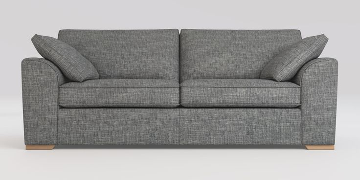 Buy Stamford with Storage Large Sofa (3 Seats) Boucle Weave Dark Grey Large Square Angle - Light from the Next UK online shop