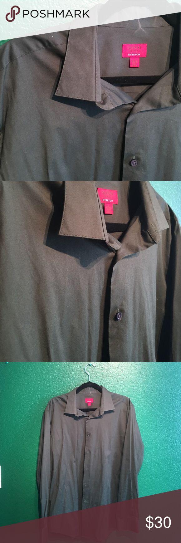 Alfani • hunter green dress shirt Stretch fabric • deep deep green Alfani Shirts Dress Shirts