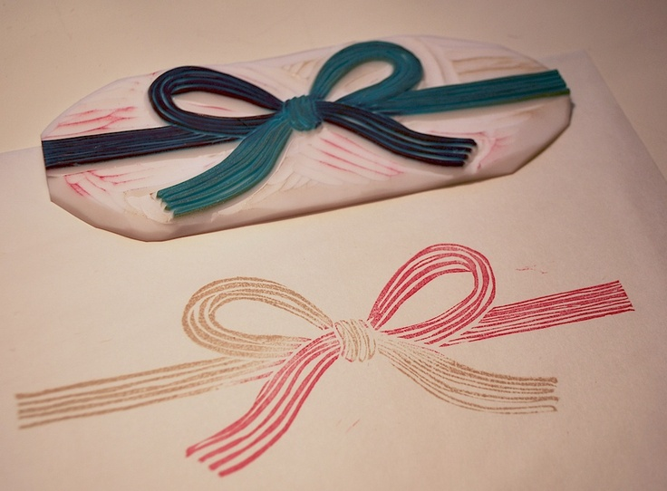 MIZUHIKI (decorative Japanese cord made from twisted paper) rubber stamp01 水引消しゴムハンコ01 by NanaAkua