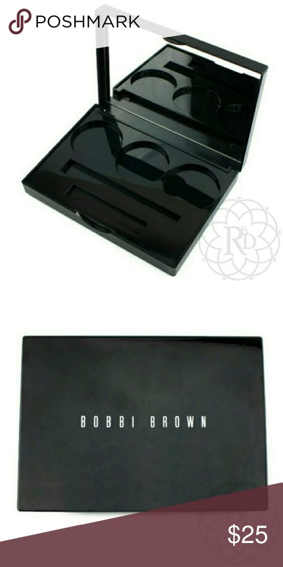 NEW Bobbi Brown Make Up Pallet Awesome Bobbi Brown Black make up pallet  ▪ Holds 3 Bobbi Brown shadows or blush, Mascara & lip gloss  💥 Brand New Pallet w/o Tag (Does not come with makeup)   ✋ All Sales Final | 🚫 Trades or Holds Bobbi Brown Makeup Brushes & Tools