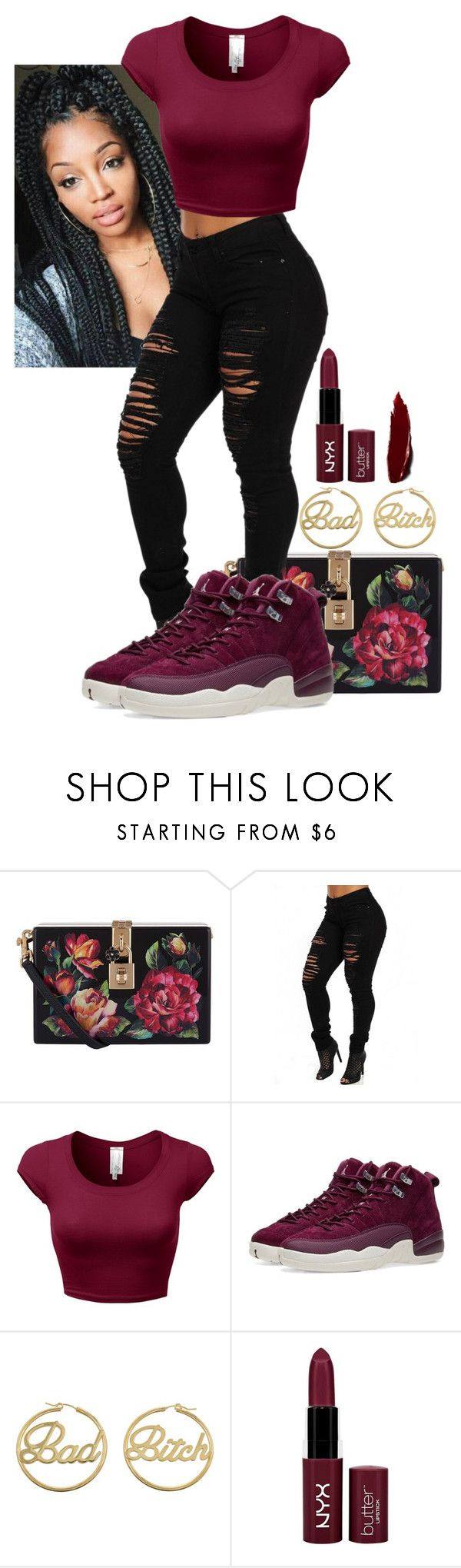 """Untitled #132"" by purple4048 on Polyvore featuring Dolce&Gabbana, NIKE, me you and NYX"