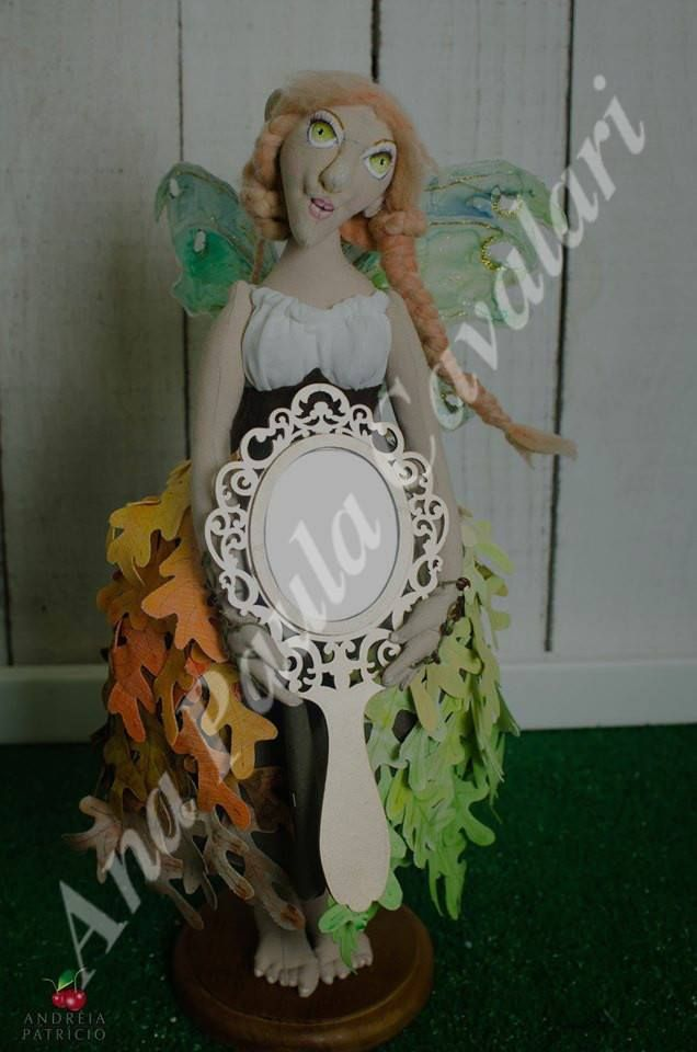 Doll made whole fabric , sculpted face , doll art , cloth doll,, Ana Paula Cavalari, artdoll,