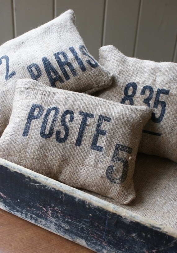 Cute burlap pillows
