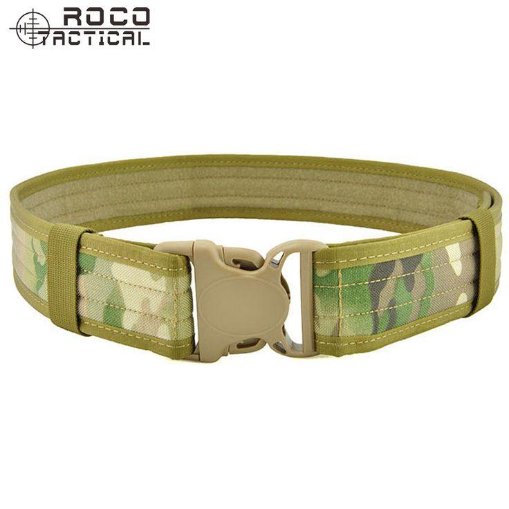 """ROCOTACTICAL Deluxe Police Duty Belt 2"""" Wide Nylon Web Tactical Belt Outdoor Multifunctional Military Training Waist Belt"""
