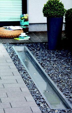 Más de 25 ideas fantásticas sobre Bachlaufschalen en Pinterest - edelstahl teichbecken rechteckig