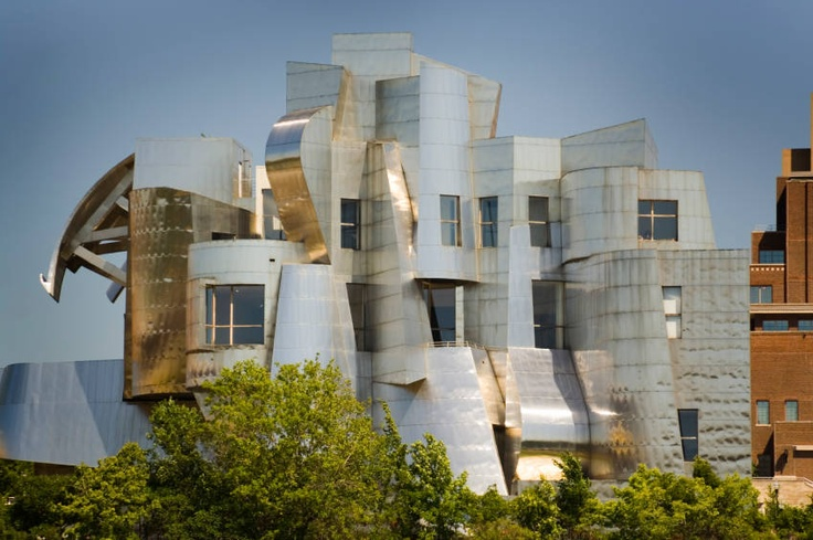 Weisman Art Museum at the University of Minnesota in Minneapolis;  designed by Frank Gehry