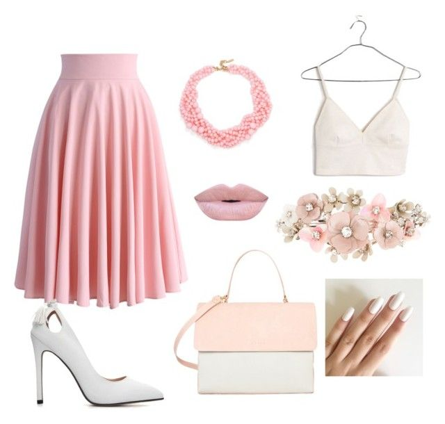 """""""Pink"""" by martyna-janas on Polyvore featuring moda, Madewell, Chicwish, Eddie, BaubleBar i Accessorize"""