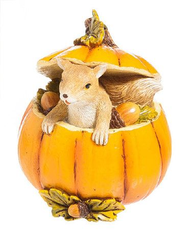 Look at this #zulilyfind! Squirrel Mini Pumpkin Garden Statue #zulilyfinds