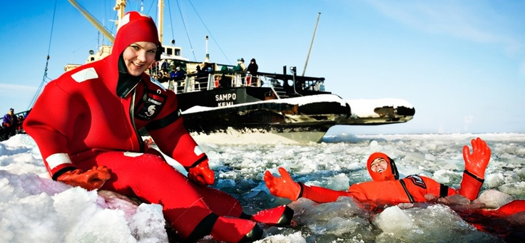 ice breaker cruise and ice swimming
