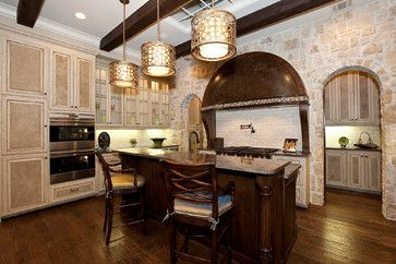 Kitchen style/ colors:  Bentley Premier Builder's European Inspired Model Villa - traditional - Kitchen - Dallas - Bentley Premier Builders