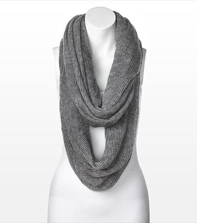 #DYNHOLIDAY Cozy and glamorous! This open knit eternity scarf looks fabulous paired with one of our winter coats.