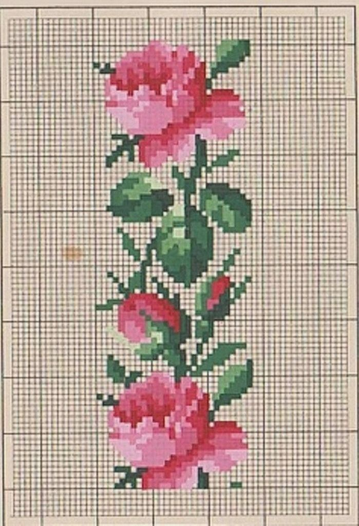 Embroidery cross stitch pattern