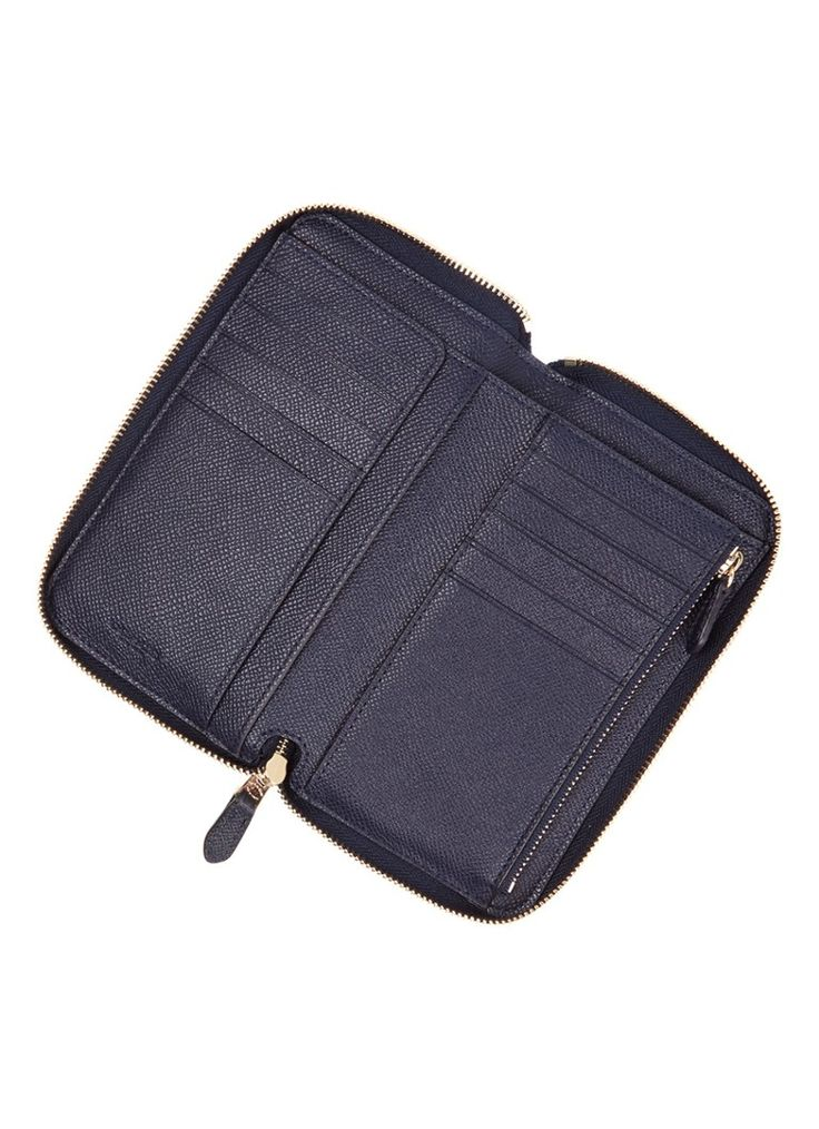 Coach Medium Zip Around portemonnee van leer • de Bijenkorf