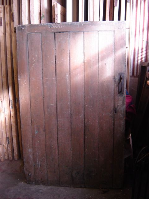 Large farm house pine ledge door.(very old) Dimensions: H 1775cms W 1111cms  D 5.8cm