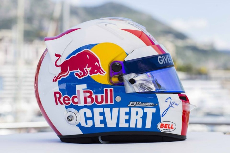 Jean-Éric Vergne's helmet for the 2013 Monaco GP - right side