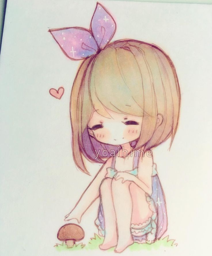 Mushrooms are cute ( ´ ▽ ` )ノ #chibi #sketch #copic