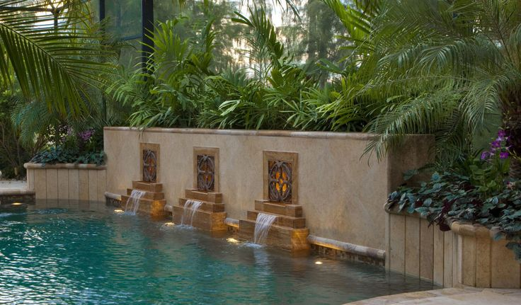 17 best images about elements fountain scuppers on for Pool design naples fl