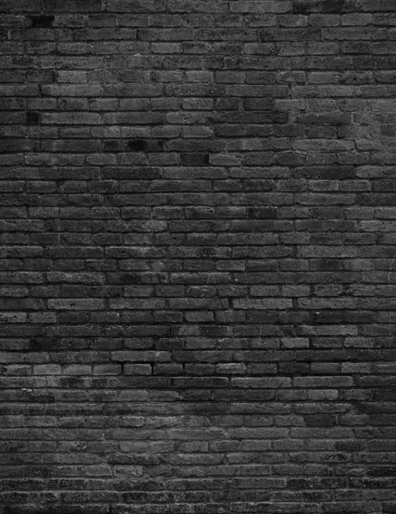Old Master Printed Warm Dark Brick Wall Texture Backdrop