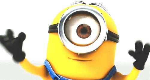 gif animé bisou de minion #minions