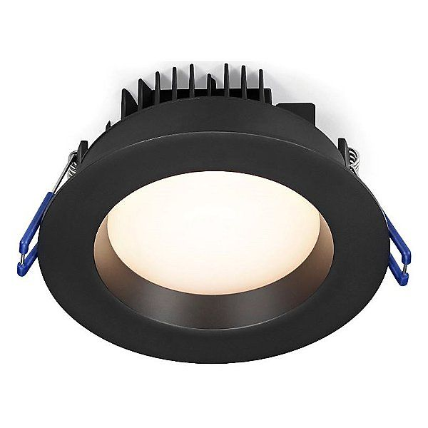 Lotus Led Lights 4 Inch Regressed Plenum Gimbal Round Led Trim Ll4rr 30k Bk Led Recessed Lighting Downlights Led