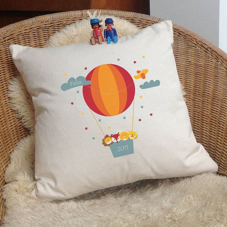 personalised 'balloon animal' cushion by a piece of | notonthehighstreet.com