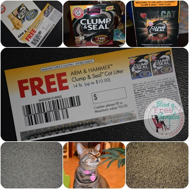 Arm & Hammer Multi-Cat Clump & Seal Clumping Litter ~ Review | Closet of Free Samples | Get FREE Samples by Mail | Free Stuff | closetsample...