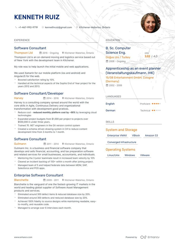 Top Software Consultant Resume Examples & Samples for 2020