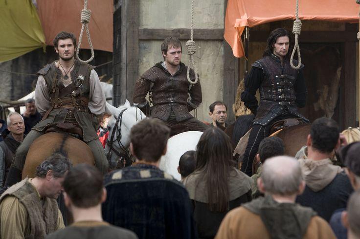 Clive Standen (Archer) Jonas Armstrong (Robin) and Richard Armitage (Guy) - Robin Hood BBC