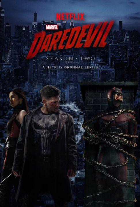 Charlie Cox, Jon Bernthal and Elodie Yung in Daredevil (2015)