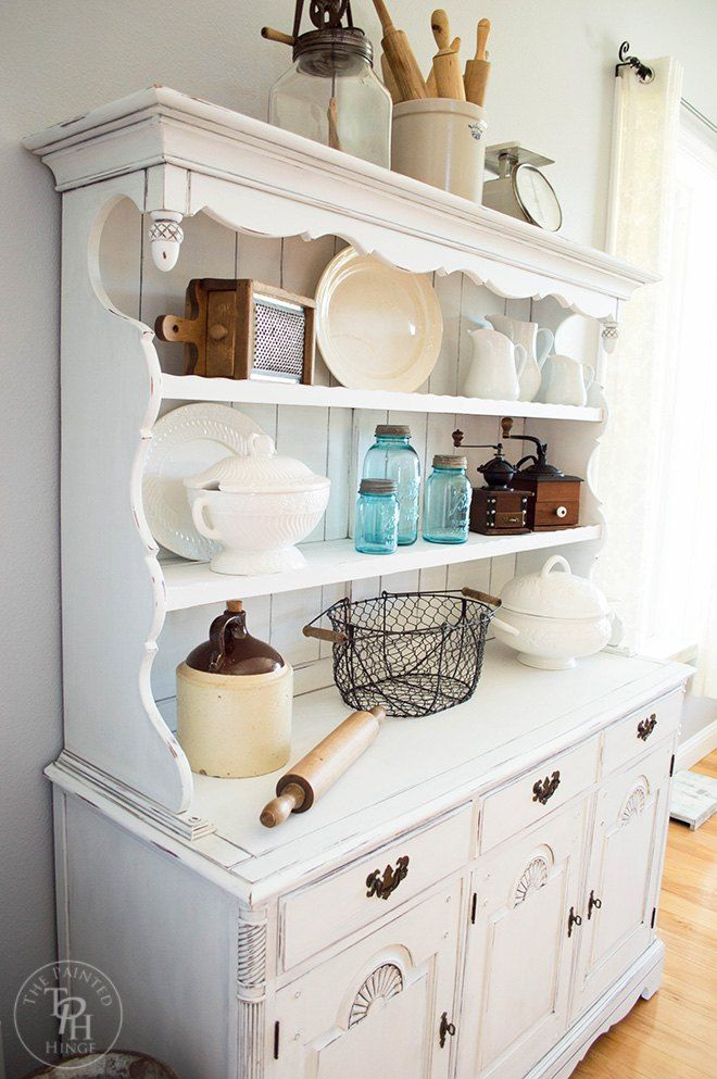 Give an Old Hutch a Farmhouse Makeover