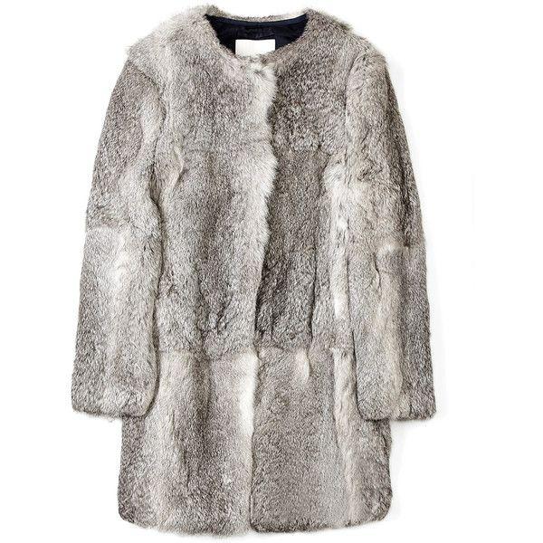 3.1 Phillip Lim Natural Grey Fur Coat ($1,148) found on Polyvore