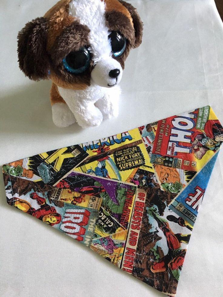 Dog Bandana Marvel Comics, Pet Clothes, Cat Bandana ,Over Collar, Affordable