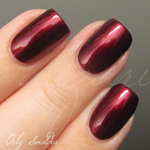 Red Nails: Orly Smolder (Red / Dark Red / Ruby / Burgandy / Brick Red